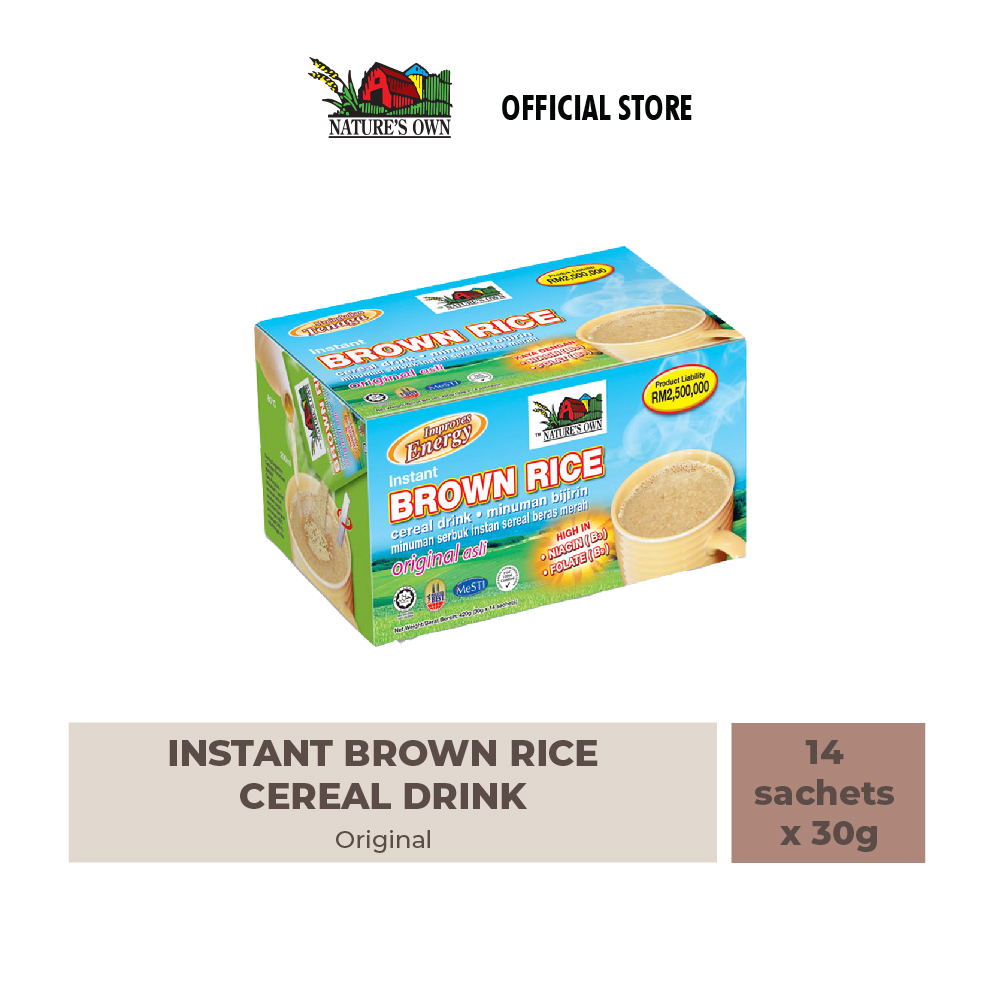 nature's own instant brown rice cereal-original