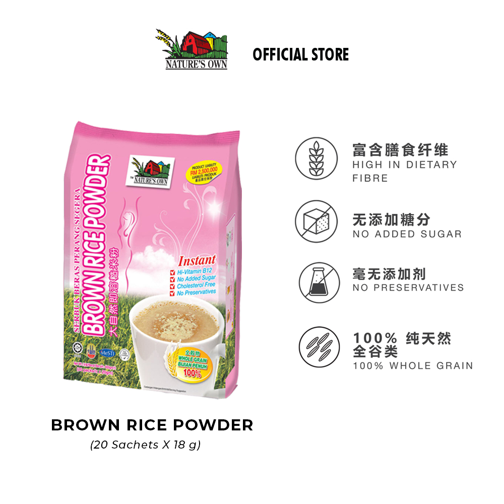nature's own instant brown rice powder