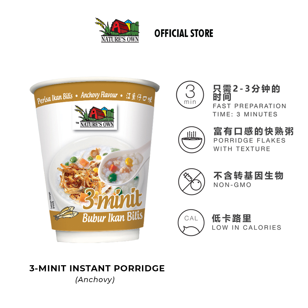 nature's own instant porridge cup-anchovy