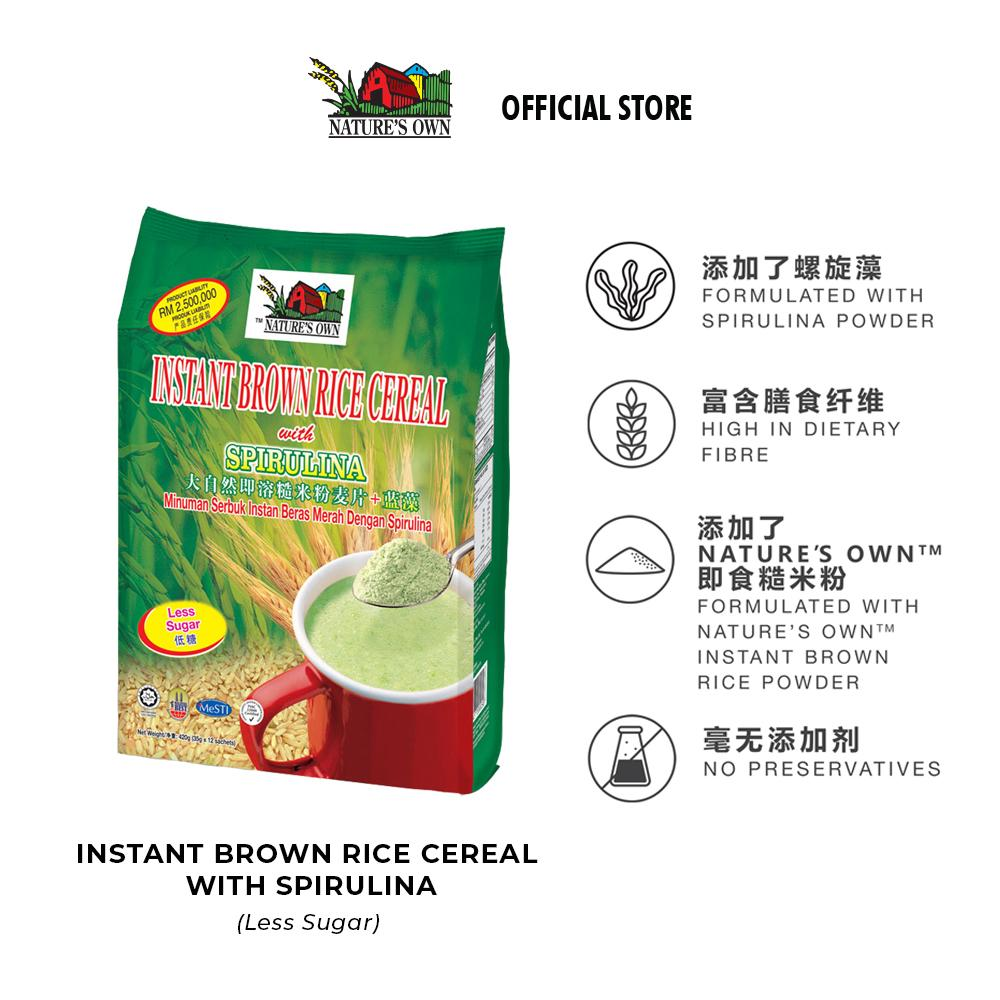 benefits of nature's own brown rice cereal with spirulina
