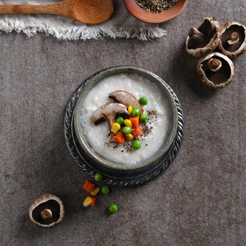nature's own instant porridge cup-mushroom