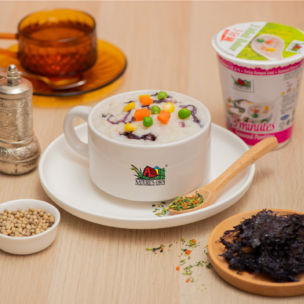 nature's own instant porridge cup - seaweed
