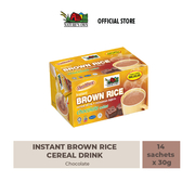 nature's own instant brown rice cereal drink-chocolate